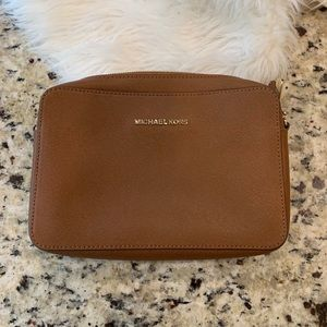 Micheal Kors brown square crossbody